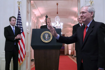 Mitch McConnell Brett Kavanaugh Sworn In As 114th Supreme Court Justice