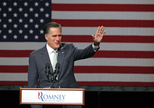 Mitt Romney - GOP Presidential Candidate Mitt Romney Campaigns In Michigan