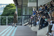 Miuccia Prada walks during the runway miu miu club show at Hippodrome d'Auteuil on June 29, 2019 in Paris, France.
