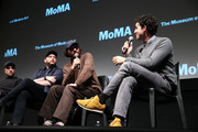 "(L-R) Robert Pattinson, Daniel Lopatin, Joshua Safdie and Ben Safdie attend a Q&A for MoMA's Contenders Screening of ""Good Time"" at MoMA on December 1, 2017 in New York City."