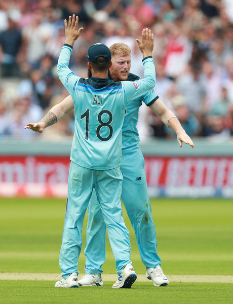 England v Australia - ICC Cricket World Cup 2019 [sports,limited overs cricket,team sport,ball game,player,cricketer,sports equipment,tournament,one day international,football player,moeen ali,ben stokes,usman khawaja,wicket,group stage,australia,england,lords,australia - icc cricket world cup,match]