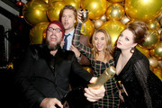 (L-R) Chris Sullivan, Justin Hartley, Chrishell Stause and Lauren Ash join Moet & Chandon at the HFPA and The Hollywood Reporter's Celebration of the 2020 Golden Globe Ambassadors at Catch on November 14, 2019 in West Hollywood, California.