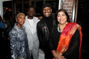 (L-R) Cynthia Erivo, Daniel Kaluuya, Tyrese Gibson and Gurinder Chadha join Moet & Chandon at the HFPA and The Hollywood Reporter's Celebration of the 2020 Golden Globe Ambassadors at Catch on November 14, 2019 in West Hollywood, California.