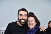 Giambattista Valli and Suzy Menkes attend the Moncler Gamme Rouge show as part of the Paris Fashion Week Womenswear Fall/Winter 2017/2018 on March 7, 2017 in Paris, France.