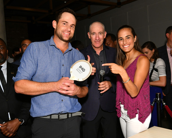 Andy Roddick, Monica Puig, And Leon Bridges At 'Legends, Unmatched' Event [leon bridges excite the crowd with an epic table tennis match and performance,event,muscle,recreation,monica puig,andy roddick,trade volleys,ihg\u00e2,ihg hotels and resorts legends,ihg hotels resorts ``legends unmatched,kimpton hotel eventi,event,table tennis event]