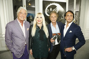 (L-R) Pierre Cornette de Saint Cyr, Monika Bacardi, Eric Colmet Daage and David Swaelens Kane attend the New Photo Department celebration at the Auction House Cornette De Saint Cyr on November 12, 2015 in Paris, France.