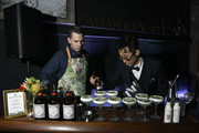 """A bartender makes cocktails at the Monkey 47 Gin Celebrates """"Shaken And Stirred"""" Podcast Launch With Nigel Barker And Tom Astor At The Wild Monkey on April 27, 2019 in New York City."""