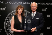 Honoree Jane Rosenthal and CEO of luxury brand Montblanc International, Lutz Bethge attend Montblanc honors Jane Rosenthal at 2014 Montblanc de la Culture Arts Patronage Award Ceremony on June 3, 2014 in New York City.