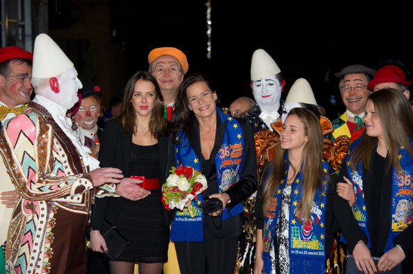 In this handout image provided by Monaco Palace, Pauline Ducruet (L), Princess Stephanie of Monaco (2nd,L) and Camille Gottlieb (R) attend the 36th Monte-Carlo International Circus Festival on January 20, 2012 in Monte-Carlo, Monaco.