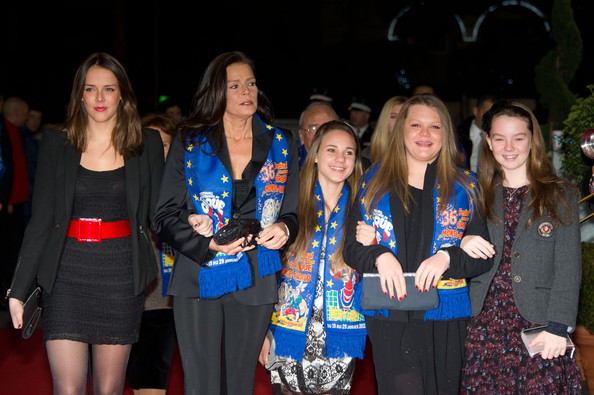 In this handout image provided by Monaco Palace, Pauline Ducruet (L), Princess Stephanie of Monaco (2nd,L), Camille Gottlieb (2nd, R) and Princess Alexandra of Hanover (R) attend the 36th Monte-Carlo International Circus Festival on January 20, 2012 in Monte-Carlo, Monaco.