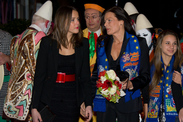 In this handout image provided by Monaco Palace, Pauline Ducruet (L) and Princess Stephanie of Monaco attend the 36th Monte-Carlo International Circus Festival on January 20, 2012 in Monte-Carlo, Monaco.