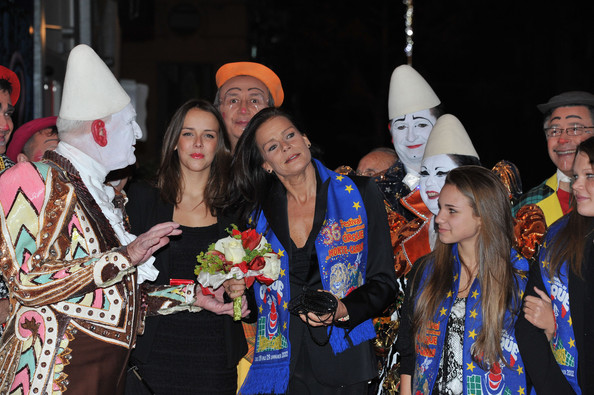 In this handout image provided by the Monaco Centre de Presse, Pauline Ducruet (L) and  Princess Stephanie of Monaco attend the 36th Monte-Carlo International Circus Festival on January 20, 2012 in Monte-Carlo, Monaco.