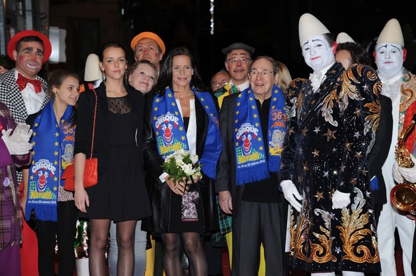 In this handout image provided by the Monaco Palace, (L-R) Pauline Ducruet, Princess Stephanie of Monaco and Robert Hossein pose with artistes as they attend the Monte-Carlo 36th International Circus Festival on January 21, 2012 in Monte-Carlo, Monaco.  attend the 36th Monte-Carlo International Circus Festival on January 21, 2012 in Monte-Carlo, Monaco.