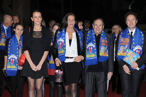In this handout image provided by the Monaco Palace, (2nd L-R) Pauline Ducruet, Princess Stephanie of Monaco, Robert Hossein and Stephane Bern attend the Monte-Carlo 36th International Circus Festival on January 21, 2012 in Monte-Carlo, Monaco.