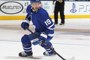 Tomas Plekanec #19 of the Toronto Maple Leafs skates against the Montreal Canadiens during an NHL game at the Air Canada Centre on March 17, 2018 in Toronto, Ontario, Canada. The Maple Leafs defeated the Canadiens 4-0.