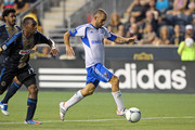 Forward Marco Di Vaio #9 of the Montreal Impact controls the ball during a game against the Philadelphia Union at PPL Park on July 14, 2012 in Chester, Pennsylvania. The Union won 2-1.