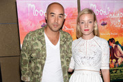 CEO and Creative Director of SUNO Max Osterweis and stylist Kate Foley attend the 'Mood Indigo' New York premiere at Tribeca Grand Hotel on July 16, 2014 in New York City.