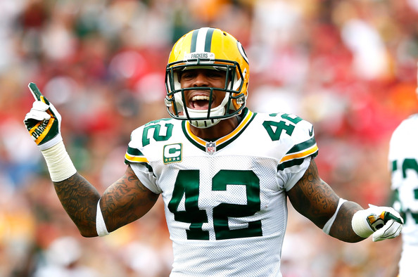 Morgan Burnett Morgan Burnett  42 of the Green Bay Packers reacts    Morgan Burnett