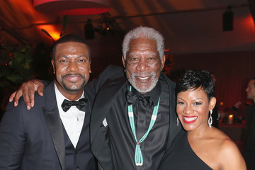 Morgan Freeman The Weinstein Company and Netflix Golden Globe Party- Inside