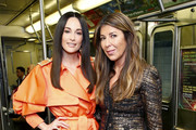 Kacey Musgraves and Nina Garcia attend the Moschino Prefall 2020 Runway Show front row at New York Transit Museum on December 09, 2019 in Brooklyn City.