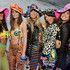 (L-R) Models Jasmine Tookes, Taylor Hill, Romee Strijd, Alessandra Ambrosio and Sara Sampaio pose backstage at the Moschino Spring/Summer 17 Menswear and Women's Resort Collection during MADE LA at L.A. LIVE Event Deck on June 10, 2016 in Los Angeles, California.