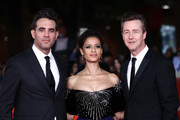 """Bobby Cannavale, Gugu Mbatha-Raw, Edward Norton attend the """"Motherless Brooklyn"""" red carpet during the 14th Rome Film Festival on October 17, 2019 in Rome, Italy."""