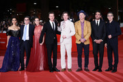 """Gugu Mbatha-Raw, Antonio Monda, Shauna Robertson, Edward Norton, Wes Anderson, Bill Murray, Bobby Cannavale, John Turturro attend the """"Motherless Brooklyn"""" red carpet during the 14th Rome Film Festival on October 17, 2019 in Rome, Italy."""