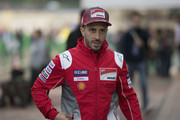 Andrea Dovizioso of Italy and Ducati Team  arrives at the press conference at th end of the qualifying practice during the MotoGP of Japan - Qualifying at Twin Ring Motegi on October 20, 2018 in Motegi, Japan.