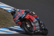 Andrea Dovizioso of Italy and Ducati Team  rounds the bend during the MotoGP of Japan - Qualifying at Twin Ring Motegi on October 20, 2018 in Motegi, Japan.