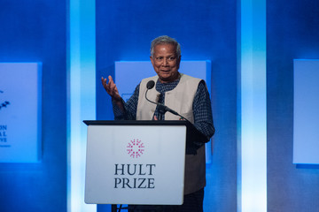 Muhammad Yunus Business And Political Leaders Attend Clinton Global Initiative Annual Meeting