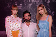Mulberry Creative Director Johnny Coca and Singer Rose and Lisa of Blackpink attend the Mulberry A/W 18 event at K museum on September 6, 2018 in Seoul, South Korea.