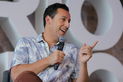 Adam Sandler speaks during the press conference of the new Netflix movie 'Murder Mystery' at St. Regis Hotel on June 13, 2019 in Mexico City, Mexico.