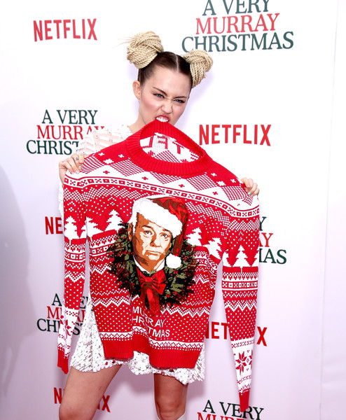 Miley Cyrus in 'A Very Murray Christmas' New York Premiere - Zimbio