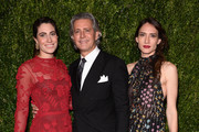 Laura De Gunzburg, Carlos Souza, and Zani Gugelmann attend The Museum of Modern Art Film Benefit presented by CHANEL: A Tribute to Julianne Moore at MOMA on November 13, 2017 in New York City.
