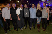 Howard Greenstone, Ken Levaton, Chris Bateman, Jared Followill, Aaron Sanchez, Holly Williams, and Chris Coleman attend the Music City Food + Wine Festival Harvest Night Presented By Infiniti on September 20, 2014 in Nashville, Tennessee.
