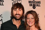 Lady Antebellum's Dave Haywood and Kelli Cashiola attend the Musicians On Call Rock The Room Tour Kickoff Party at City Winery on October 21, 2015 in Nashville, Tennessee with the help of Reba, Martina McBride, Kelsea Ballerini and more to support its bedside tours for patients in hospitals. Learn more at www.musiciansoncall.org.