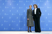 """(R-L) Sigourney Weaver and Margaret Qualley pose at the """"My Salinger Year"""" photo call during the 70th Berlinale International Film Festival Berlin at Grand Hyatt Hotel on February 20, 2020 in Berlin, Germany."""