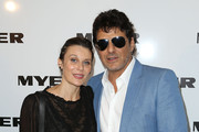 Vince Colosimo and Diana Glenn arrive for the Myer A/W 2015 Season Launch at Myer Mural Hall on February 12, 2015 in Melbourne, Australia.