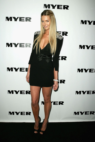 Jennifer Hawkins arrives at the MYER Spring Summer 2009/10 Collection Launch at Carriageworks on August 19, 2009 in Sydney, Australia.