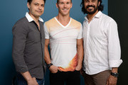 (L-R) Actor Ryan Kwanten, director Ivan Sen and actor Aaron Pedersen of 'Mystery Road' pose at the Guess Portrait Studio during 2013 Toronto International Film Festival on September 10, 2013 in Toronto, Canada.