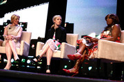 Marketing Director Marie Claire, Courtney Weinblatt, Market Vice President/ Publisher Marie Claire MC, Nancy Cardone and Star Jones speak onstage at NAPW 2014 Conference - Day 2 on April 25, 2014 in New York City.