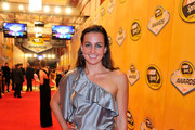 Six-time Olympic medalist Swimmer Rebecca Soni arrives on the red carpet for the NASCAR Sprint Cup Series Champion's Awards at the Wynn Las Vegas on November 30, 2012 in Las Vegas, Nevada.