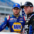 Regan Smith Chase Elliott Photos - Chase Elliott, driver of the #9 NAPA Auto Parts Chevrolet, left, and Regan Smith, driver of the #7 Great Clips Chevrolet, take part in pre-race ceremonies for the NASCAR XFINITY Series Kentucky 300 at Kentucky Speedway on July 10, 2015 in Sparta, Kentucky. - NASCAR XFINITY Series Kentucky 300