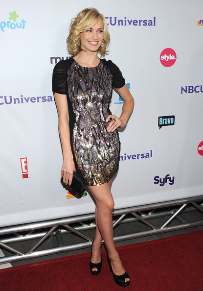 Actress Yvonne Strahovski arrives at the NBC Universal TCA 2011 Press Tour All-Star Party at the SLS Hotel on August 1, 2011 in Los Angeles, California.