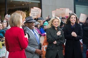 TODAY -- Pictured: Dylan Dreyer, Hoda Kotb, Al Roker, Megyn Kelly and Savannah Guthrie on Monday, December 18, 2017 --
