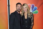 Lorenzo Lamas and Brandi Glanville arrive at NBCUniversal's 2015 Winter TCA Tour - Day 2 at The Langham Huntington Hotel and Spa on January 16, 2015 in Pasadena, California.