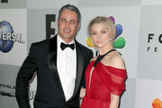 Actors Taylor Kinney (L) and Natalie Dormer attend Universal, NBC, Focus Features and E! Entertainment Golden Globe Awards After Party sponsored by Chrysler at The Beverly Hilton Hotel on January 10, 2016 in Beverly Hills, California.