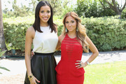 TV Personalities Julissa Bermudez and Adrienne Bailon attend the NBCUniversal summer press day held at The Langham Huntington Hotel and Spa on April 18, 2012 in Pasadena, California.