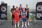 Majok Majok of the New Zealand Breakers; Damian Martin of the Perth Wildcats; Andrew Bogut of the Sydney Kings; David Barlow of Melbourne United and Adam Doyle of the Adelaide 36ers pose during a NBL Media Opportunity on June 27, 2018 in Melbourne, Australia.  The National Basketball Association (NBA) and the National Basketball League (NBL) today announced that for the second consecutive year, NBL teams will travel to the U.S. to participate in the NBA preseason. Five NBL teams, including the Adelaide 36ers, Melbourne United, New Zealand Breakers, Perth Wildcats and Sydney Kings, will play a total of seven games against NBA teams in the 2018 NBA preseason, including the Denver Nuggets, LA Clippers, Philadelphia 76ers, Phoenix Suns, Toronto Raptors and Utah Jazz, from Sept. 28 Ð Oct. 5.