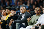 Former NBA player and Club owner Shawn Marion of the Breakers watches on from the sideline during the round one NBL match between the New Zealand Breakers and the Brisbane Bullets at Spark Arena on October 11, 2018 in Auckland, New Zealand.